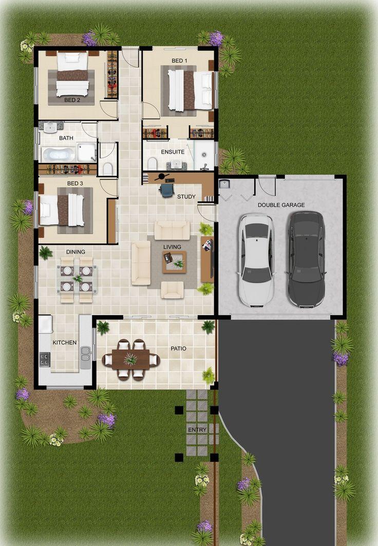 2D Colour Floor Plan Hedley Homes