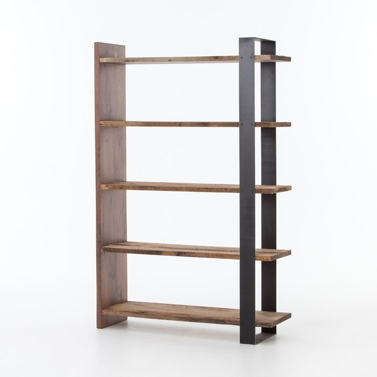 Anderson Industrial Rustic Oak Wood and Metal Bookcase - 25+ Best Ideas About Metal Bookcase On Pinterest Bookcase
