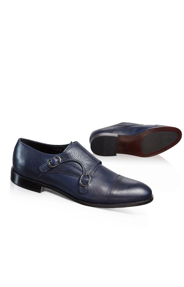 Zapatos negros con botones Jako para hombre b1eVY