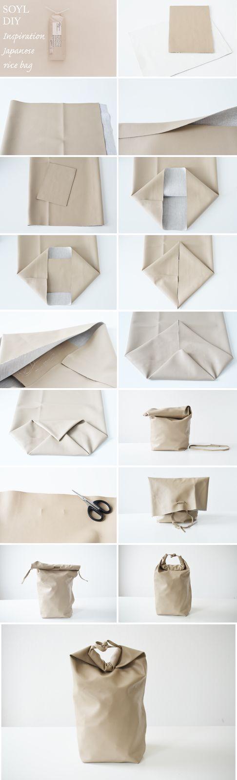 Clear Designed Brainy und Natural: Die DIY Soy Tasche nach einer traditionellen Japanischen Reisverpackung. Von @aprilandmay