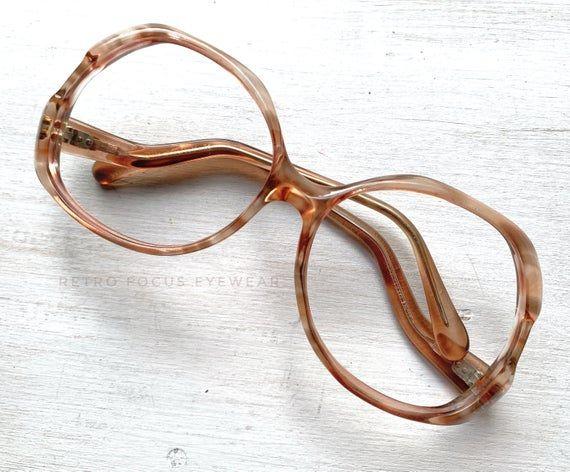 Givenchy X 70's Oversized Eyewear Ash Champagne Ginger Ale Blonde Glasses Eyeglasses Frames Vintage  – Products