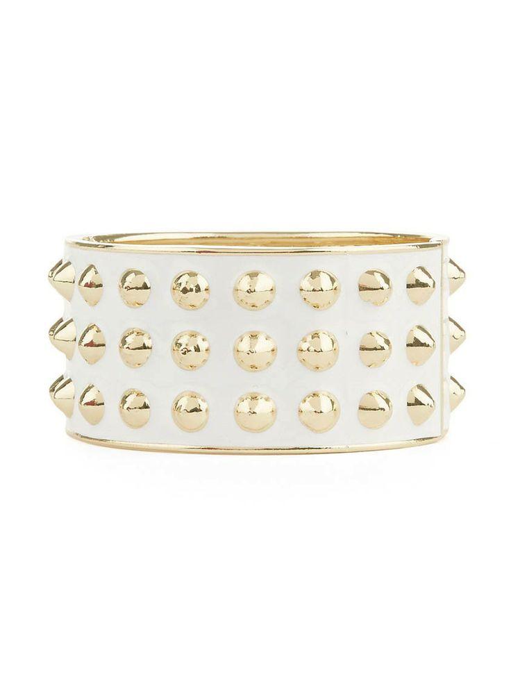 Enamel bracelet with studs