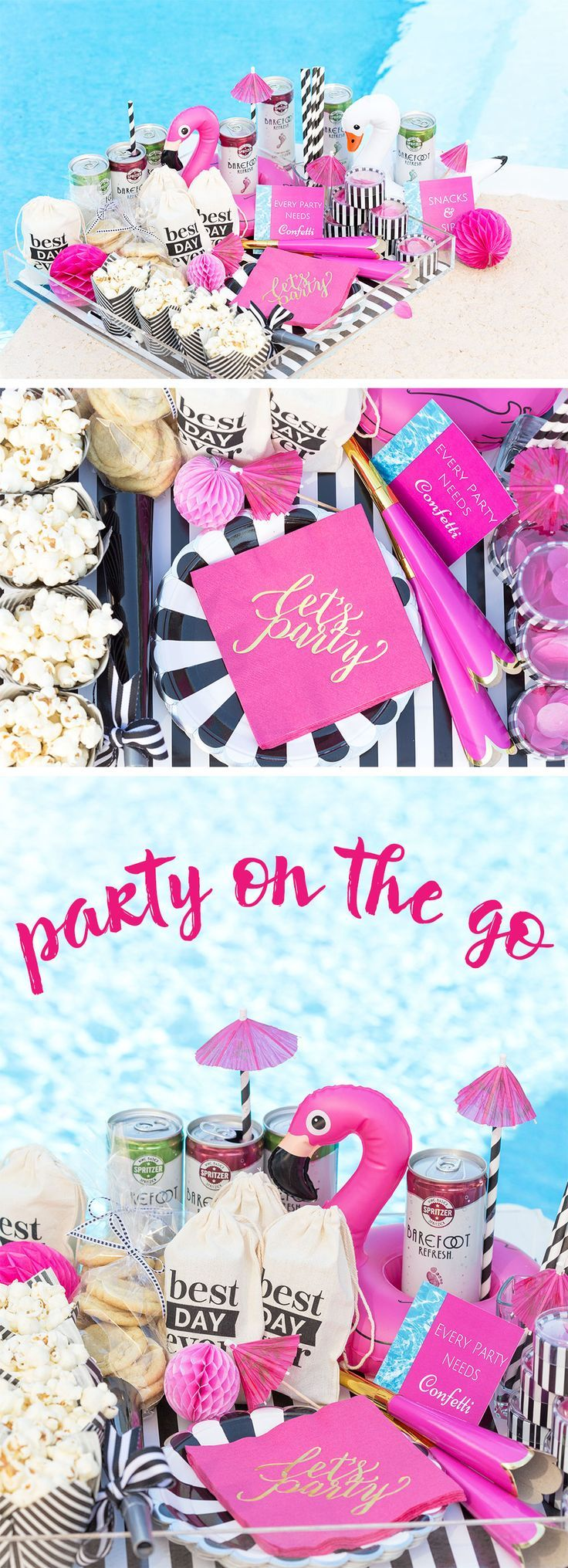 Get tips for creating the ultimate poolside party to go with everything from party decorations, drinks and food, and creative ideas too!