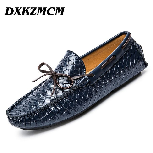 Check lastest price DXKZMCM Handmade Men Flats Shoes Soft Leather Men Loafers ,Weaving Casual Driving Shoes Classical Moccasins For Men just only $36.91 with free shipping worldwide  #menshoes Plese click on picture to see our special price for you