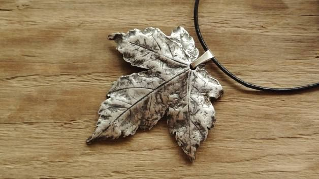 Silver Pendants – Silver maple leaf – a unique product by Misarte on DaWanda