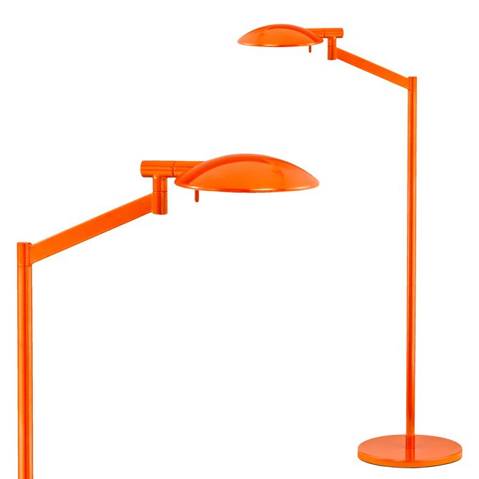 perch pharmacy swing arm floor lamp at 329 has a boldly scaled shade rotating