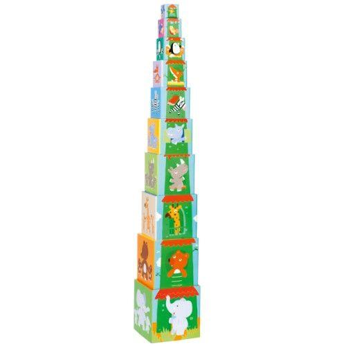 Incroyable tout ce que peuvent faire les enfants avec ces cubes très solides en carton renforcé : reconnaître les couleurs, compter jusqu'à 10, s'inventer des histoires autour des thèmes proposés et bien sûr les empiler pour construire la plus grande des tours ou les emboîter du plus grand au plus petit.