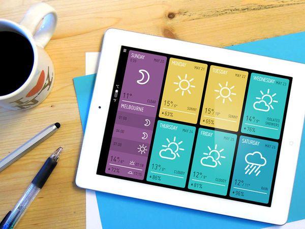 Minimeteo iPad weather app