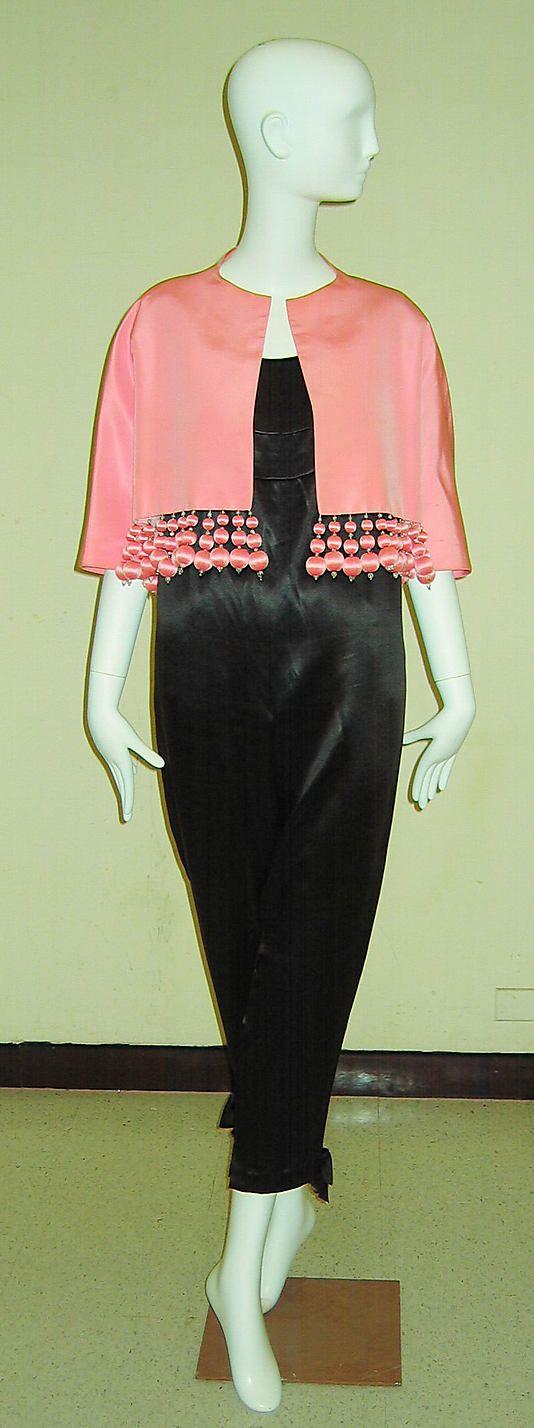 Balenciaga, 1957. Silk evening ensemble worn by Pauline de Rothschild
