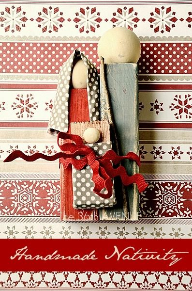 Handmade Rustic Nativity Tutorial.