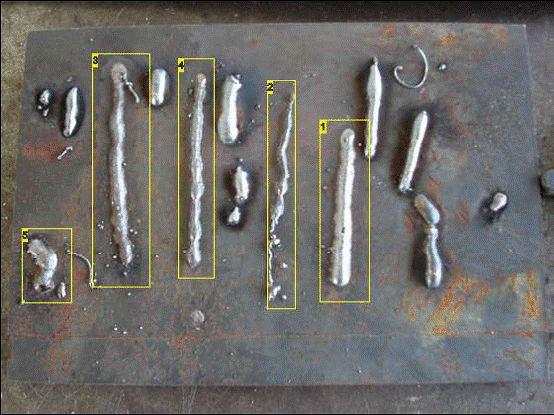 MIG welding Test welds