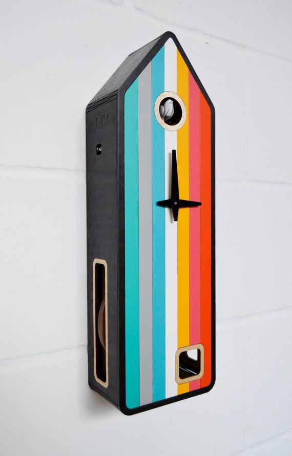 ArcoIris Modern Cuckoo Clock inspired by Black by pedromealha
