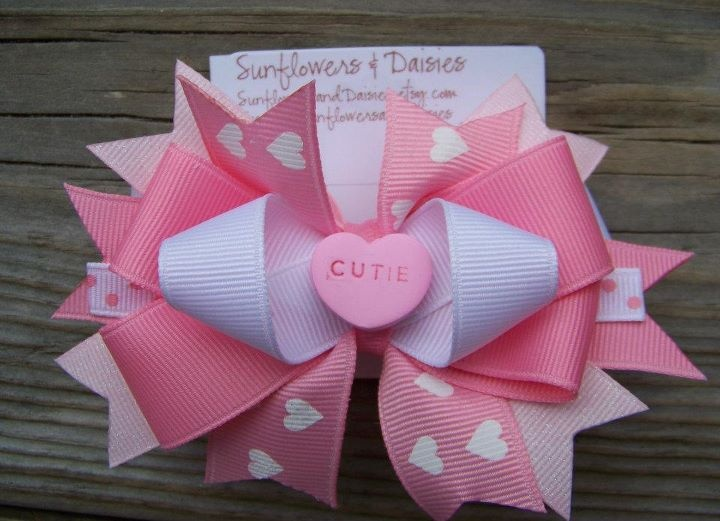 cute girly bow for hair or packages, etc.