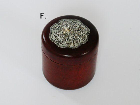 Mangó doboz II. (Alapanyaga: Fa+ Fém) (F) - henger világos barna