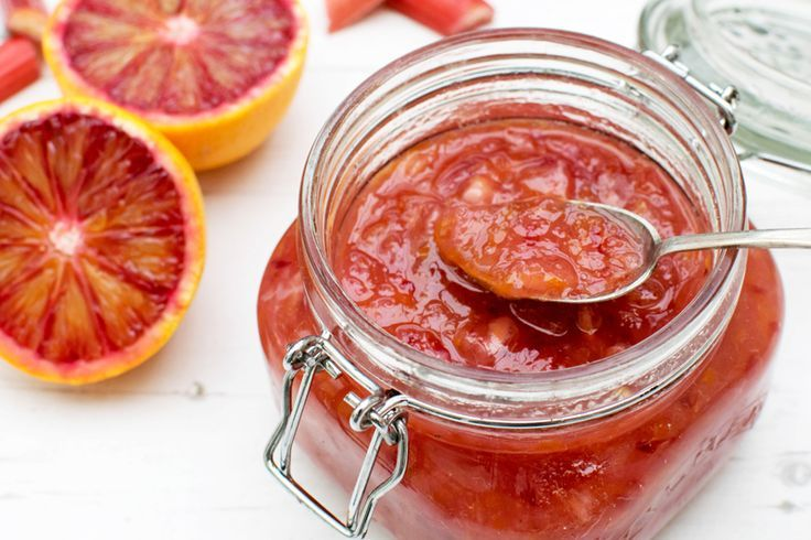 Blood Orange & Rhubarb Jam [vegan] [gluten free] by The Flexitarian