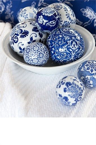 Buy Homeware Online - Bed Linen, Window Dressing, Furniture, Kitchen, Home Decorating Accessories, Bathroom and Storage - Decorative Ball - China Blue Large