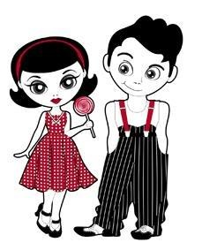 rockabilly boy and girl