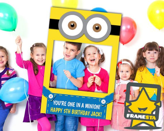 Minion Party Photo Booth Prop (Digital File Only) Minion Printable, Minion Gifts, Minion Party Favors, Minion Costume, Despicable Me