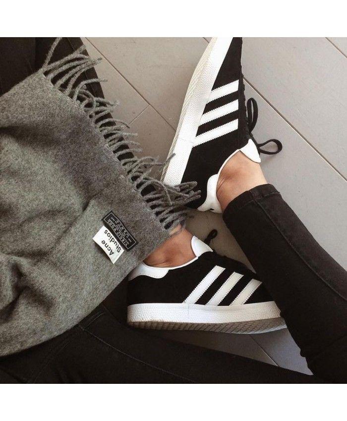 buy cheap 97354 29e24 Adidas Gazelle Black White Shoes