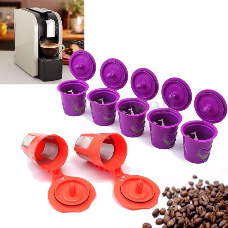 7Pcs KCup KCarafe Reusable Refillable Coffee Filter