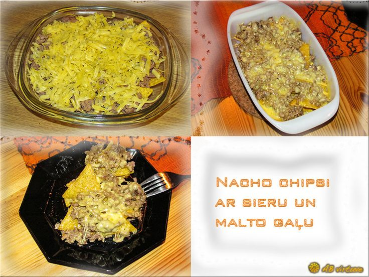 chipsi with cheese and minced meat