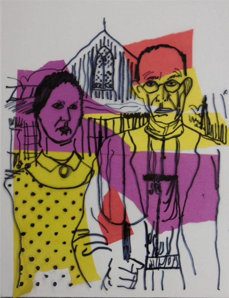 Andy Warhol - Inspired by Grant Wood - American Gothic ANDY WARHOL : More at FOSTERGINGER @ Pinterest .