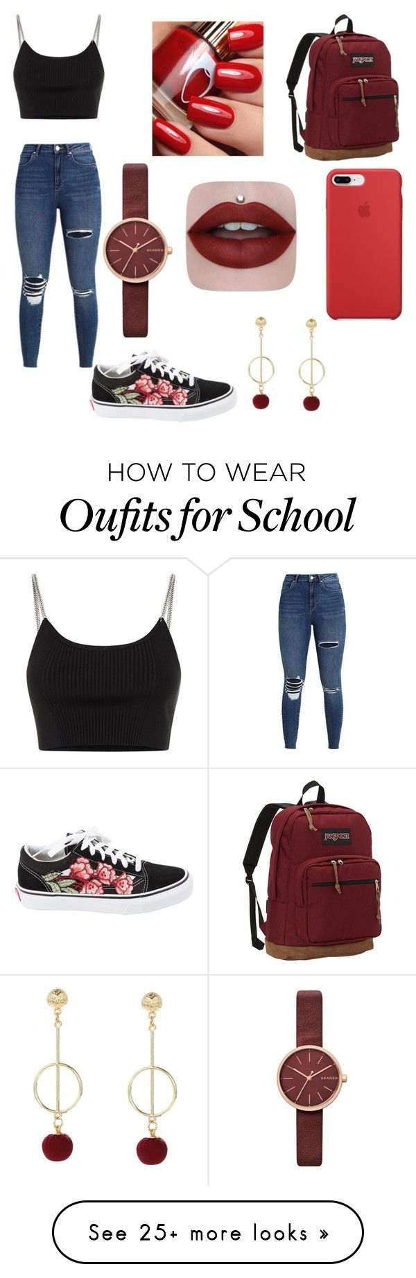 """issa00"" by mariana-magalhaes-6 on Polyvore featuring Alexander Wang, Vans, JanSport and Skagen"