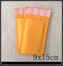 """Comercio al por mayor 100 unids 9X15 cm 3.5 """"x 5.9"""" Pequeño Fabricante de bolsas de Papel Kraft burbujea los anuncios publicitarios rellenados sobres mailer postal bolsa de papel(China (Mainland))"""