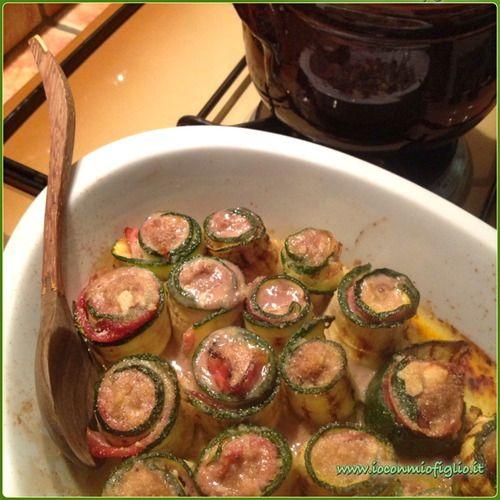 bocconcini di carne con speak e zucchine