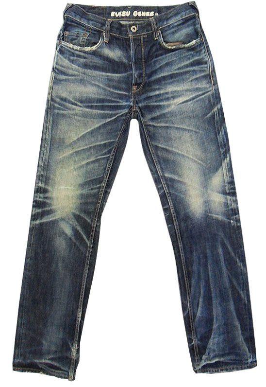 NWT Handmade Amazing Wash EVISU Selvedge Denim Jeans