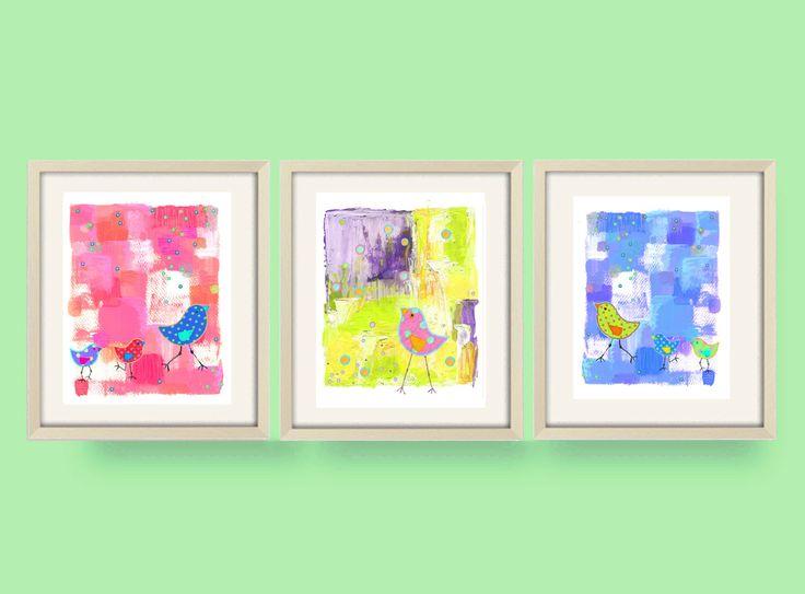 kids bathroom art, kids bathroom decor,childrens art, nursery art, bathroom art,baby girl,nursery decor,children art,kids wall art,bird art by OzscapeDesigns on Etsy https://www.etsy.com/listing/168316228/kids-bathroom-art-kids-bathroom
