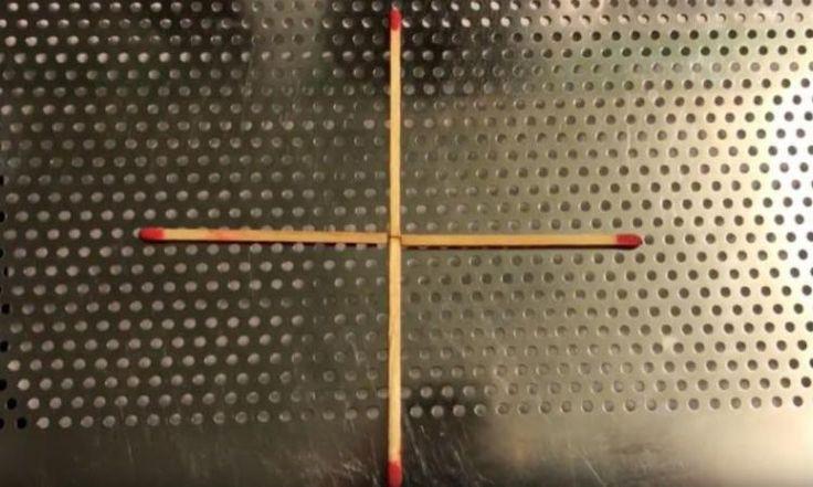 En ne déplaçant qu'une seule allumette, pouvez-vous former un carré avec ces 4 allumettes?