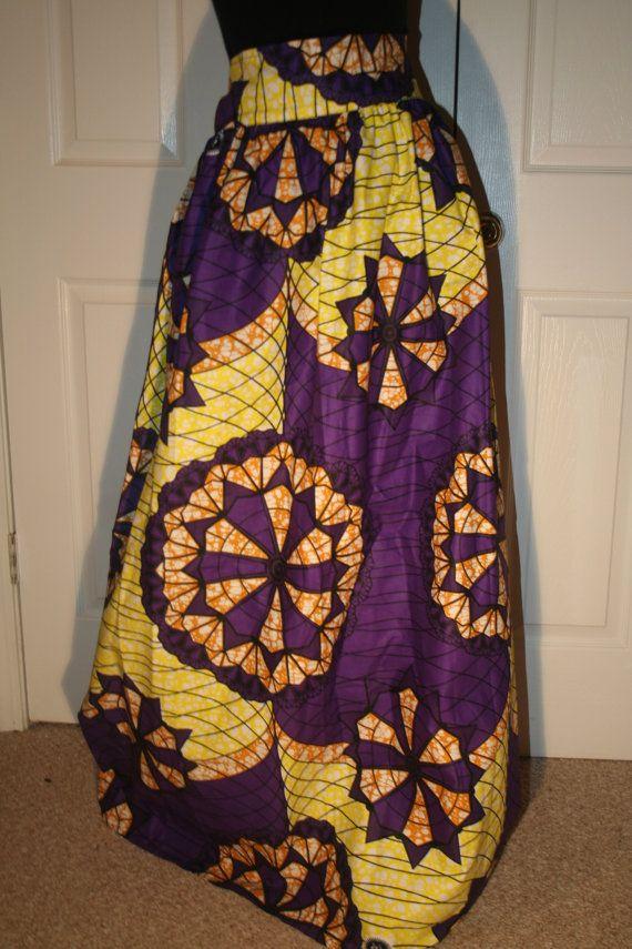 ANKARA DESIGNER AFRICAN Fabric Long Maxi by Illusionsofafrica, $95.00