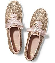 KEDS X kate spade new york CHAMPION GLITTER, Rose Gold Glitter