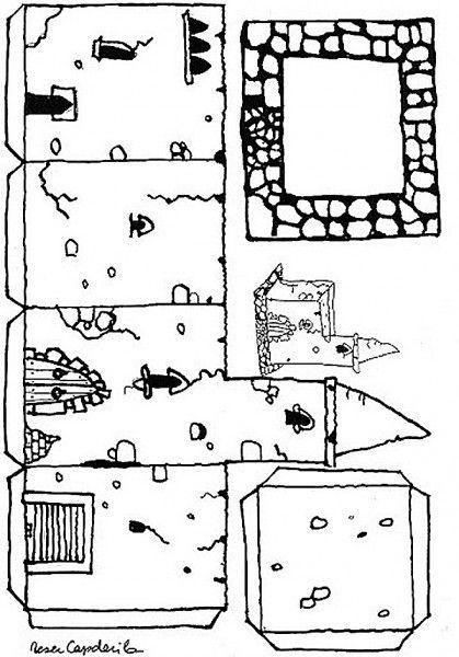 Recortables 3D de castillos   medieval