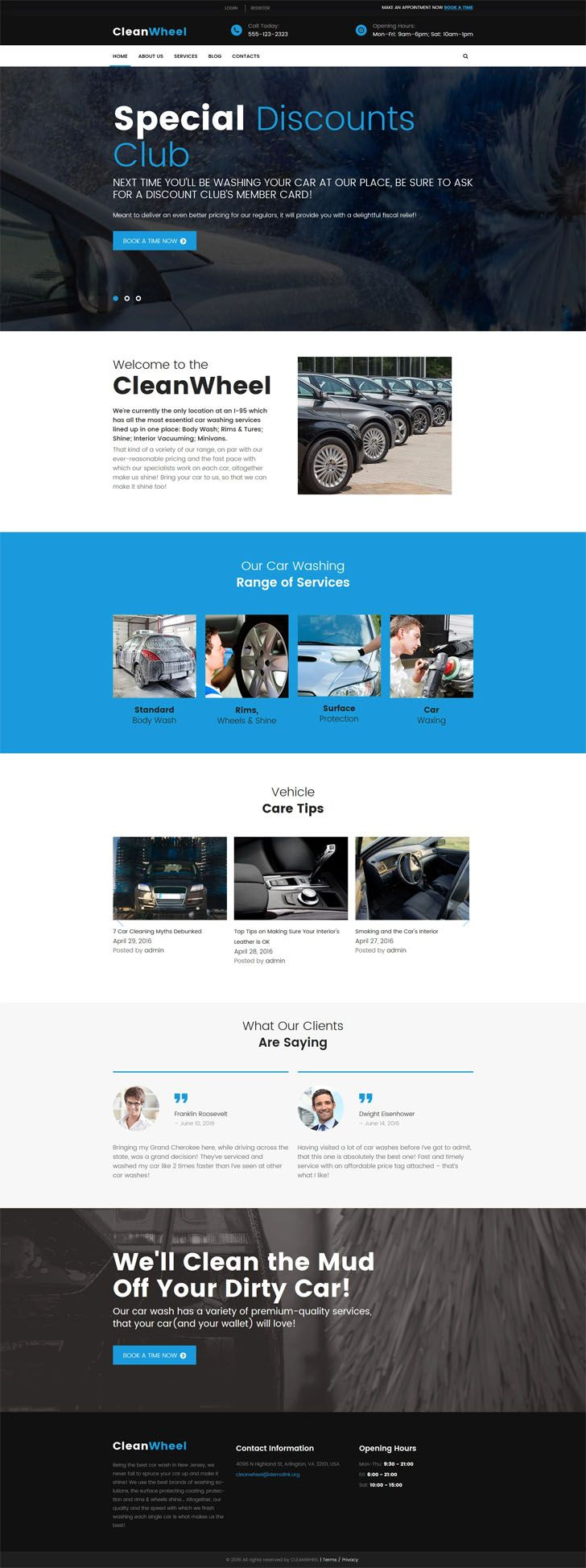 #CleanWheel #Car #Wash #WordPress #Theme.CleanWheel is a responsive Car Wash WordPress Theme powered by Cherry Framework 5 and intuitive Power builder. Developed specifically for cleaning service and other maintenance businesses, it possesses a fresh look thanks to the dark color palette, large modern fonts and expressive background images. Its flexible layout can be easily modified in the dashboard by changing the sidebar position and the arrangement of post previews. CleanWheel comes with…