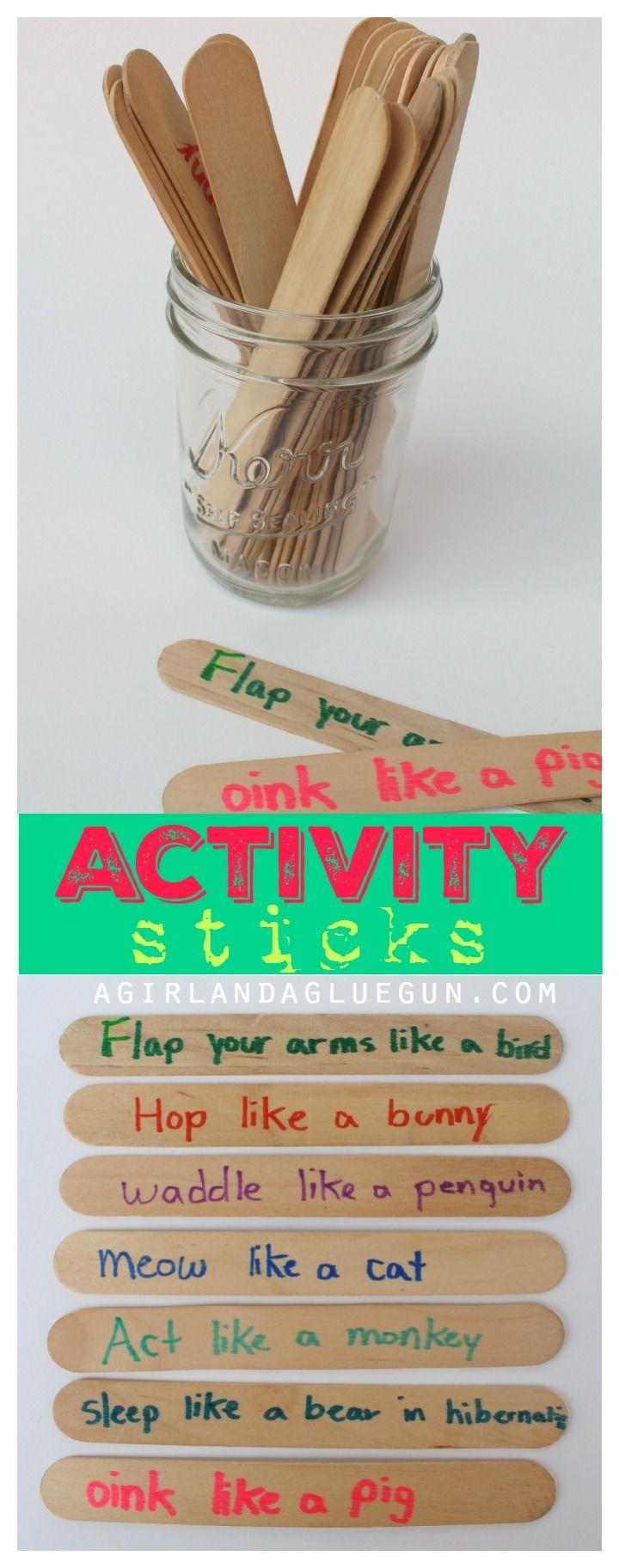 activity sticks for kids fun