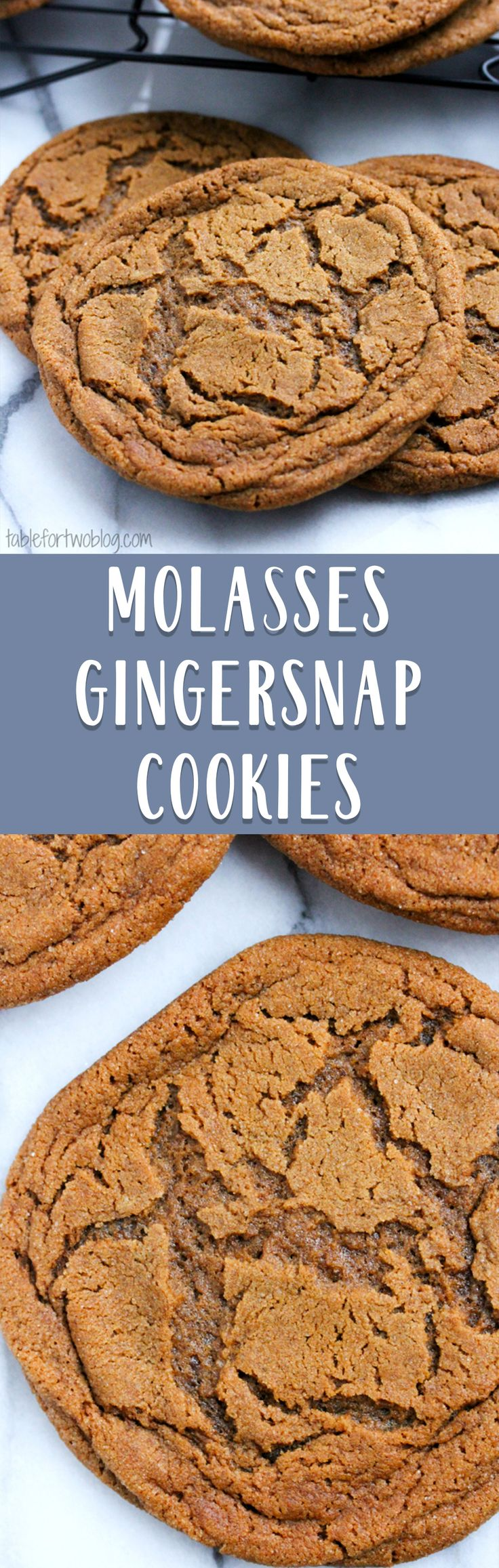 Molasses ginger cookies are soft and chewy with the perfect amount of ginger flavor
