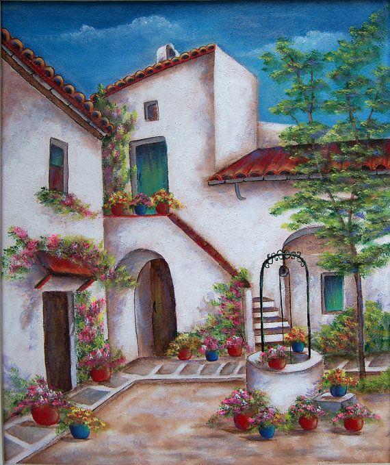 The Well At Granada. An original acrylic by DianeTrierweiler, $164.99