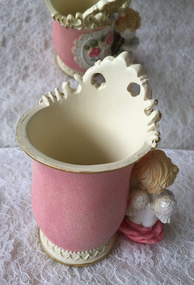 Hand-Painted Romantic Lace Little Vase, Pen Holder decoration | eBay