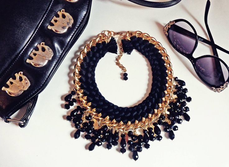 - black style Fire de Murg necklace -