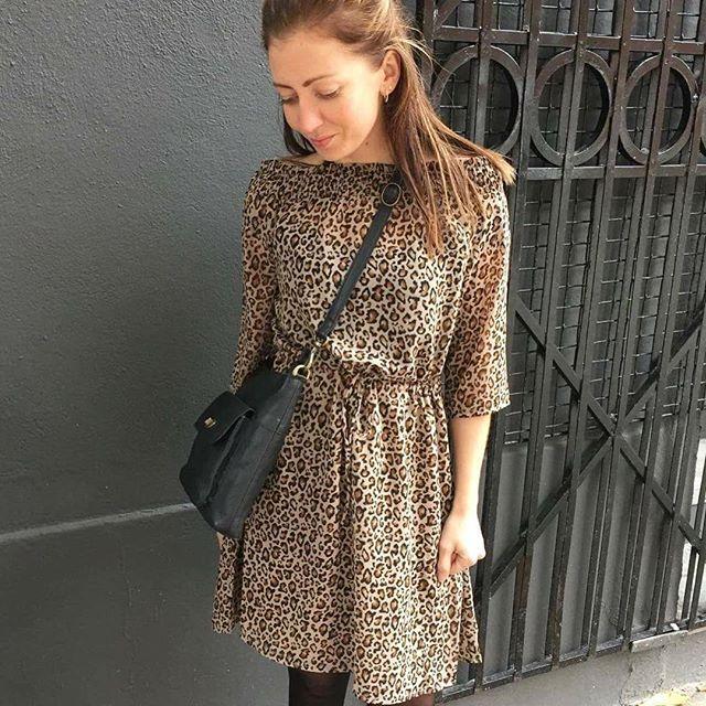 KAY CROSSOVER in black #modström #news #leopard #dress #redesignedbydixie