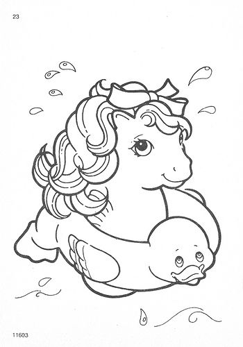 My Little Pony G1 Coloring Pages by Natasja_75, via Flickr