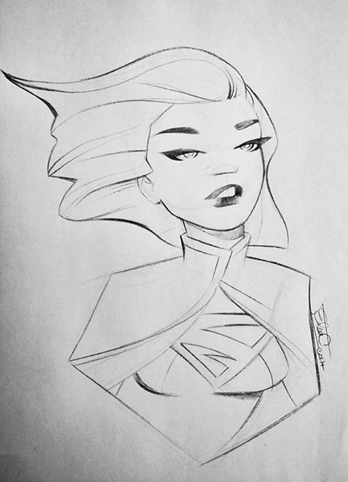 supergirl by Elsa Charretier