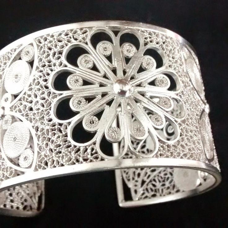 Filigrana, filigree, joya en plata