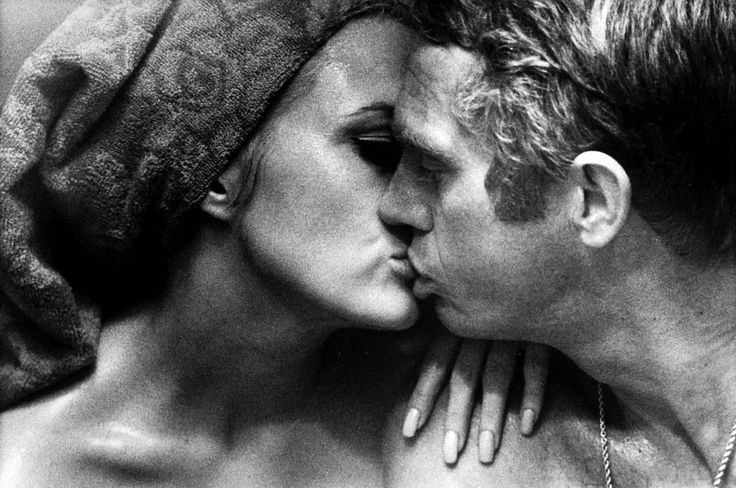 Faye Dunaway and Steve McQueen by Bill Ray