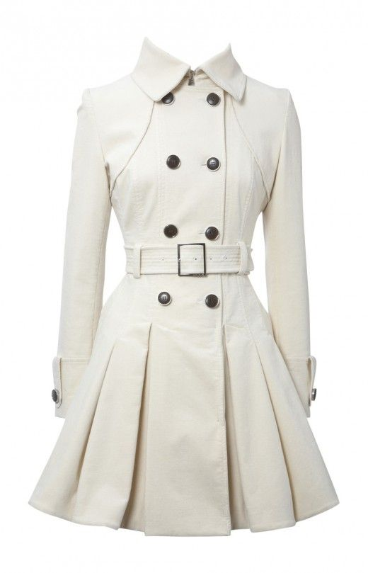 1. TRENCH COAT The trench coat will never go out of fashion. New fabrics, colors and patterns fit a wide variety of styles. Known for its long length, and double- or single-breasted versions, this coat features a belt that ties at the waist. Can be used for casual wear or dressed up for fancier occasions.