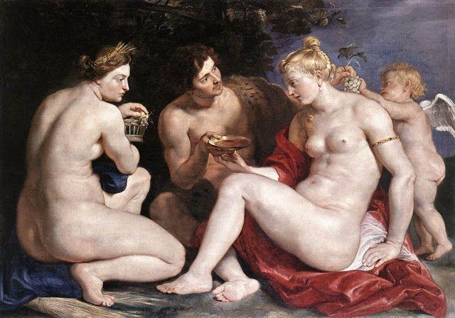 Αφροδίτη , Ερωτας , Βάκχος και Δήμητρα. (1612-13)