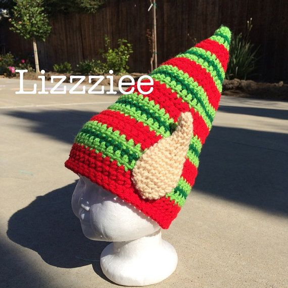 Elf Ears Crochet Hat PATTERN PDF  Christmas  by lizzziee on Etsy