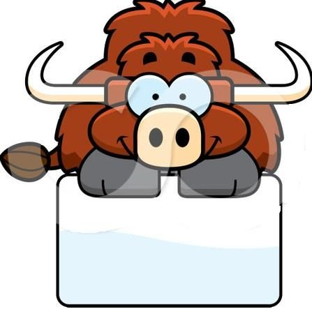 1098217-Clipart-Happy-Yak-Over-A-Sign-Royalty-Free-Vector-Illustration.jpg (447×443)